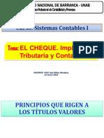 EL CHEQUE-Implicancia Tributaria y Contable