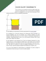 TraTRANSFERENCIA DE CALOR Y DIAGRAMA TS