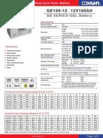 Bateria Ge100-12 Kuhn