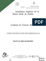 Manual Del Maestro de Matematicas