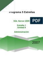 Unidad 8 Microsoft P5E SQL 2005 v1