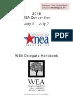 2016 Washington Delegate Handbook NEA RA