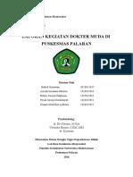 Laporan Kegiatan Coass PKM PALARAN 18 April-9 Juni 2016