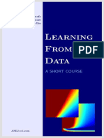 Learning From Data - A Short Course