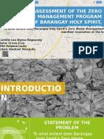 Report on Zero Waste Management
