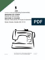 Kenmore 385.19110 Sewing Machine Manual