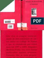 Maurice  Merleau Ponty A Natureza