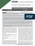 clinical spontaneus pneumothorax