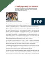 Maestros en Huelga Por Mejores Salarios Página12 11/08/16