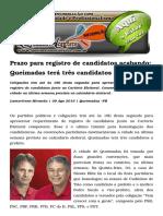 Prazo Para Registro de Candidatos Acabando; Queimadas Terá Três Candidatos a Prefeito