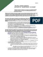Will County Gazette & Proft Papers Factsheet(3)