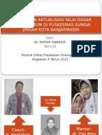 Rancangan Aktualisasi Nilai Dasar Dokter Umum Di Puskesmas