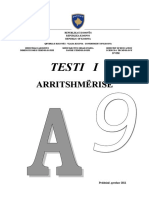 Testi Arritshmerise Kl.ix- A Nga www.testiarritshmerise.blogspot.com 2011