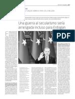 Una Guerra Al Secularismo Sería Arriesgada Incluso Para Erdogan