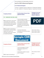 Sample Summary Statement for CDR Professional Engineer _ Review My CDR