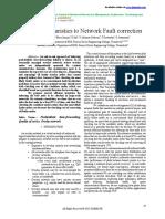 Efficient Heuristics to Network Fault correction