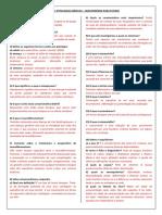 Questionário Para Estudo – Patologia