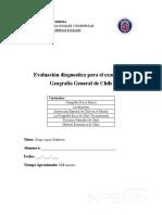 Evaluacion Diagnostica Para El Examen de Geografia General de Chile