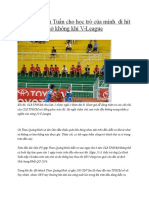 HLV Lu Dinh Tuan Cho Hoc Tro Cua Minh Di Hit Tho Khong Khi v-League
