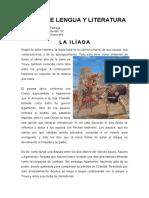 Deber de Lengua y Literatur1 La Iliada