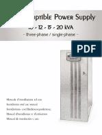 Riello Multiplus Ups Series 10-12-15 20 Manual