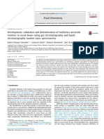 Development, Validation and Determination of Multiclass Pesticide Residues in Cocoa