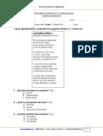 Evaluacion Lenguaje 2o Basico Octubre 2012