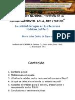 La Calidad Del Agua en Los Recursos Hídricos Del Perú