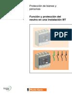 Función y protección del neutro. Merlin Gerin.pdf