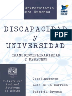 Discapacidad y Universidad. Transdiciplinariedad y Derechos Humanos.