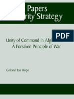 Unity of Command in Afghanistan - A Forsaken Principle of War - Ian Hope (SSI 2008)