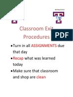act 3 exit procedures
