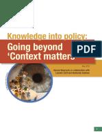 Knowledge into poliy