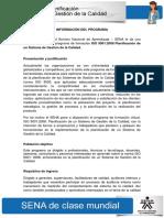 Informacion Del Programa Iso 9001-2008 Modulo 2