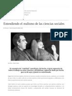 Entendiendo El Realismo de Las Ciencias Sociales