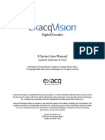 ExacqVision E-Series User Manual