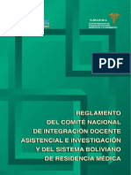 MS. Reglamento Del C.N.I.D.a.I. y Del Sistema Boliviano de Residencia Médica. 2002