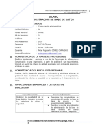 Syllabus de Administracion de Base de Datos