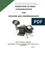 Introduction to Mass Communication - Apuke Destiny Oberiri (2016)