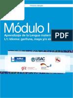 Módulo I Aprendizaje de La Lengua Materna L1 Idioma Garífuna, Maya y Xinca
