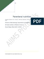 Parenteral Nutrition 280308