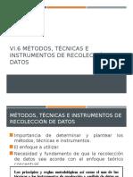 Métodos, Técnicas e Instrumentos de Recolección de Datos
