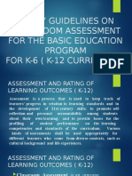 Policy Guidelines on Classroom Assessment for the Basic