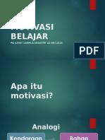 Motivasi Belajar (Pd Jumatan Cm 22 Mei 2015)