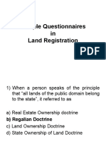 Appraisers Sample Questionnaires in Land Registration Atty. Buan