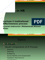 Lecture -3 Institutional Effectiveness Process