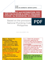 2014 - 0011b Pipe Sizing for Water Supply and Distribution