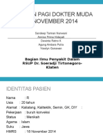 Laporan Pagi Ipd Klaten 20 November 2014