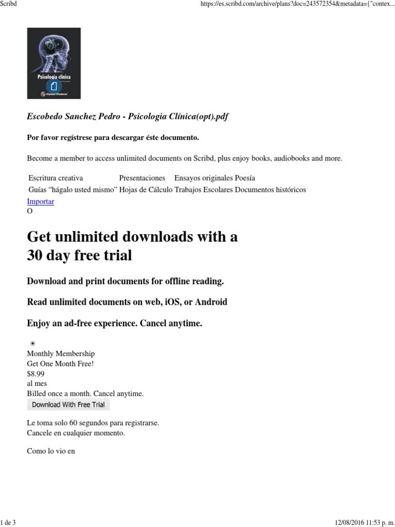 Psicologia Clinica Pedro Sanchez Escobedo Pdf Download