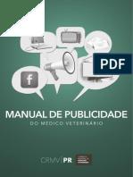 Manual de Publicidade Do m Dico Veterin Rio Crmv Pr